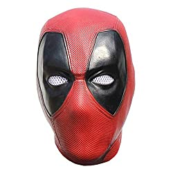 top 10 deadpool masquerade mask Best Coser Deadpool Mask Halloween Cosplay Costume Latex Full Head Helmet for Teenage Men