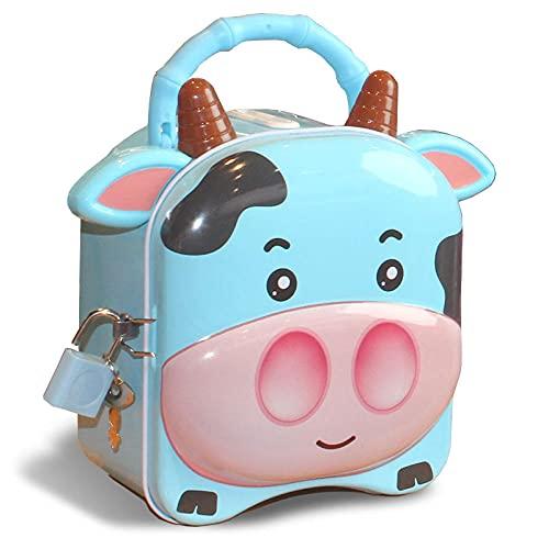 Hucha Decoración Billetes Y Monedas Ahorrar Dinero Cello Piggy Bank Infantil Anti-Fall Password Lock Hucha Bank Piggy Boy Boy Girl Net Red