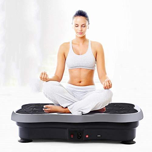 YQZ Fitness-Vibrationsplattform, Home Multifunktions-Bodybuilding-Maschine Balance Training Board, Stummschaltung mit Bluetooth mit USB