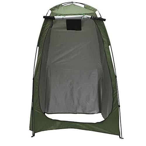 Tienda de campaña plegable para inodoro de campaña, para la ducha, de privacidad, para el vestuario extraíble, impermeable, portátil, con bolsa de transporte, para camping, senderismo, pesca