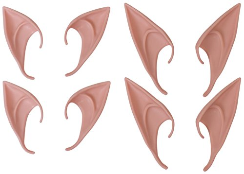 Iconikal Halloween Elf Ears, Fairy Cosplay Ears Made from Soft Latex , 2 Sizes, 4 Pairs
