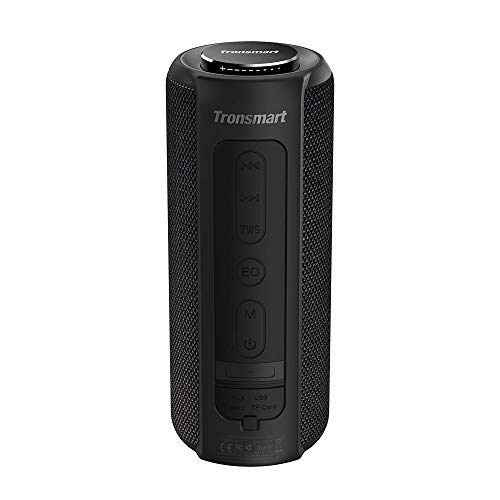 Bluetooth Speaker 5.0, Tronsmart T6 Plus 40W Portable Outdoor Wireless Speaker With Tri-Bass Effects, 6600mAh Powerbank, IPX6 Waterproof, 15 Hrs Playtime, TWS, Voice Assistant and handsfree call