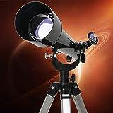 WUAZ Telescopio para Principiantes para niños y astronomía astronómico portátil telescopios refractores con el buscador de Alcance brújula y el trípode