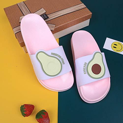 YYFF Été Sandales Confortables,Pantoufles d'été d'intérieur,Sandales de Fruits d'extérieur-Rose_38 / 39,Pantoufles Antidérapantes