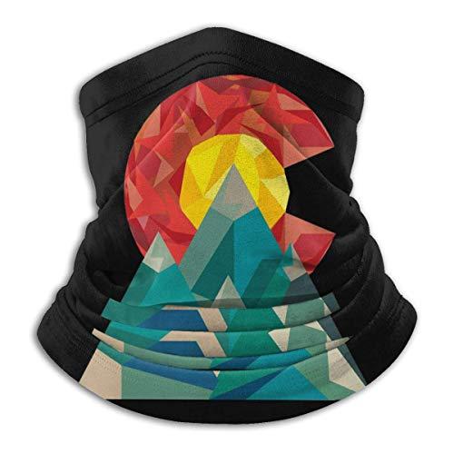Colorado Geo - Pasamontañas transpirable para la cara, bufanda, cuello de microfibra, unisex