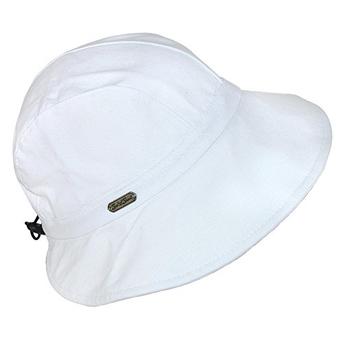 Sun N' Sand Breezy Drawstring Hat, White