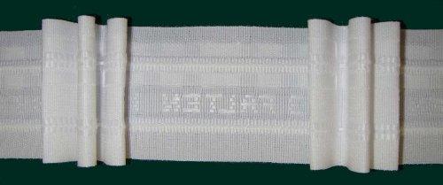 Faltenband mit 3 Falten, 50 mm, weiß, 250 % / Aufmachung 10 m