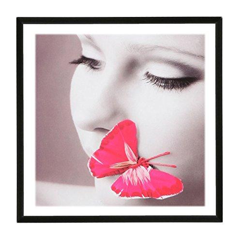 Photo Style Bilderrahmen 20x20 30x30 40x40 50x50 quadratisch Foto Rahmen: Farbe: Schwarz | Format: 50x50