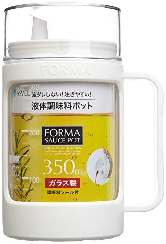 アスベル ガラスポット(液体用) 「フォルマ」 ホワイト 1132