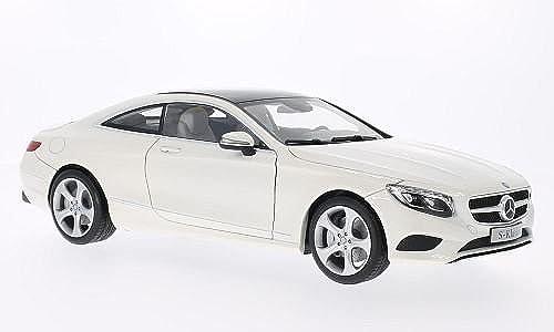 Mercedes S-Klasse Coupe (C217), metallic-Weißs, 2014, Modellauto, Fertigmodell, I-Norev 1 18