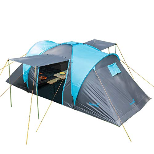 Skandika Hammerfest 4 Personas - Tienda de campaña Familiar - cúpula - Dos dormitorios- mosquiteras (sin Suelo Cosido)