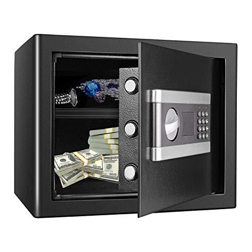 Kacsoo 1.2 Cub Fireproof Safe Cabinet Security Box, Digital Combination Lock Safe with Keypad LED Indicator, for Pistol Cash Jewelry Important Documents