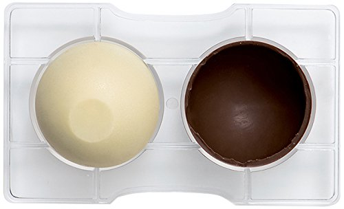 Decora 0050093 Molde para Chocolate HEMISFERIO C/Base Ø 75-