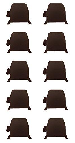 Rollwin 10x Rolladen Gurtwickler Aufputz 14mm | Mini Braun mit 5m Gurt| Lochabstand 155mm | Aufklappbar