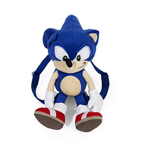 YUNMEI Sonic Juguete ¡Nueva Mochila De Felpa Sonic The Hedgehog! Muñeca Suave Azul Figura 18 \