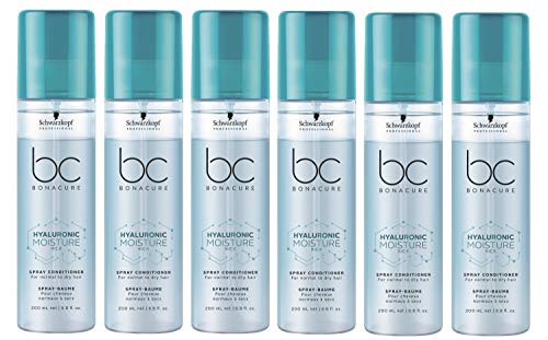 6er Moisture Kick Spray Conditioner Hyaluronic Bonacure Schwarzkopf für trockenes Haar 200 ml