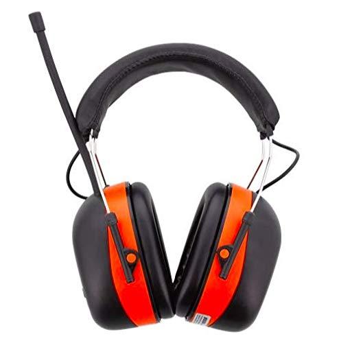 Gehörschutz mit integriertem Radio, der Gehörschutz ist verstellbar.