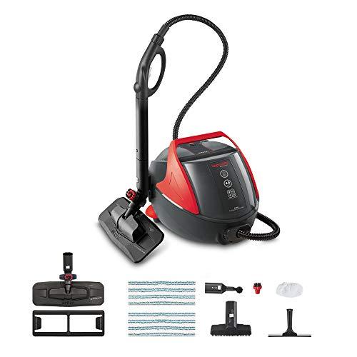 Polti Vaporetto PRO85_Flexi Limpiador a vapor, 1100 W, 1.3 litros, Aluminio, Negro y rojo