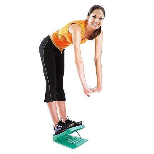 El estiramiento del pedal plegable de masaje plantar Permanente Body Sculpting for adelgazar Paneles de estiramiento de la cuña, tamaño: 27 * 30,5 cm (azul-verde) Práctico equipo de gimnasia en el hog