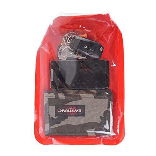 Lomo Bolsa ligera seca para tablet teléfono móvil, cartera plana con ventana de visualización, color rojo