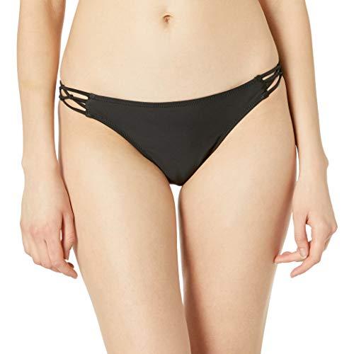 Volcom Junior's Women's Simply Solid Full Bikini Bottom Bragas, Negro, M para...