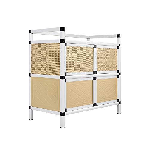 KNDJSPR Küche Lagerung Sideboard Schrank Regal Aluminiumlegierung Mikrowelle Tisch Schrank Haushalt Stehen Workstation Rack für Esszimmer Möbel Veranstalter - 79,5 * 40,5 * 76 cm