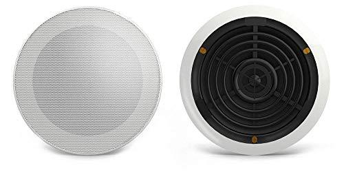 Audibax, Altavoces Techo CM408-BT4, Altavoces Techo Blanco Bluetooth 5' Empotables, Gran Potencia de 60 W, Color Blanco, Rejilla Magnética, Fácil Instalación