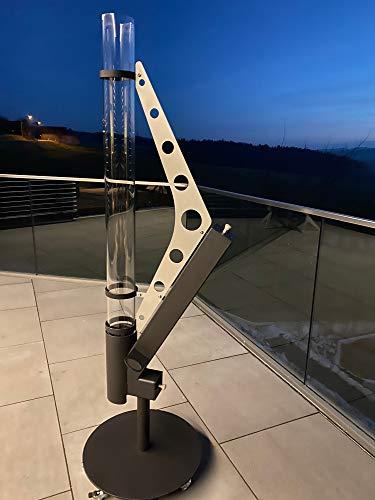 KIRCHBERGER METALL Pellet Feuersäule Feuerrohr Heizstrahler Magic-Pellet-fire 2.0 - KC-Designblech