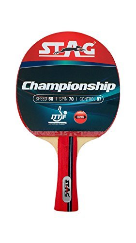 Stag Championship Table Tennis Racket with ITTF Authorised Rubber