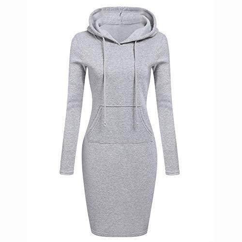Jersey Suéter Sweater Vestidos Gruesos De Gran Tamaño, Suéter Largo para Mujer, Vestido Medio Alto, Suéter Recto, Vestido Informal para Mujer, Tejido Suelto, Vetement M Gris