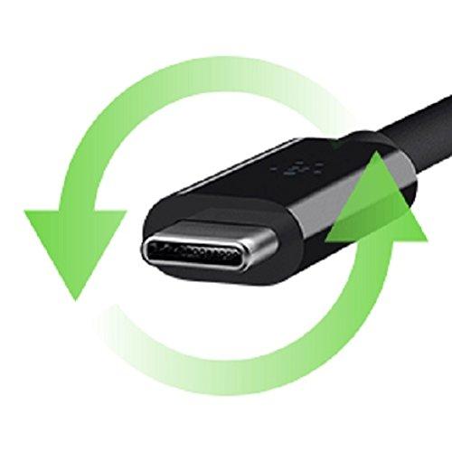 Belkin Boost UP Quick Charge 3.0 18-Watt-Kfz-Ladegerät mit 1,2 m langem USB-A-/USB-C-Kabel für Samsung S9+, S9, S8+, S8+, Note 8, schwarz