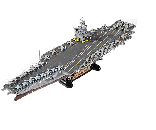 Academy 14400 1:600 US Navy USS Enterprise CVN-65 Plamodel Plastic Hobby Model Aircraft Carrier Kit Toy with Display Stand (Paint Not Included)