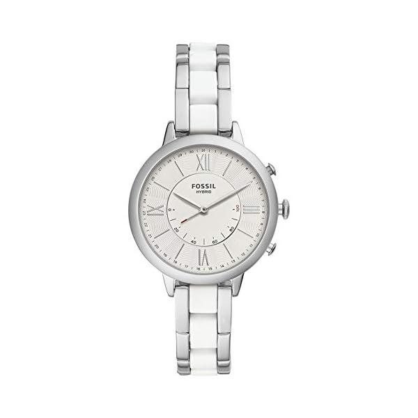 Fossil – Reloj híbrido para Mujer con Correa de Acero Inoxidable,