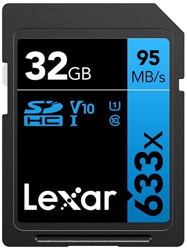 Lexar Schede Professional 633X 32Gb Sdhc Uhs-I, Nero