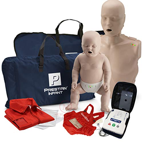 Adult and Infant CPR Manikin Kit with Feedback Prestan UltraTrainer and MCR Accessories