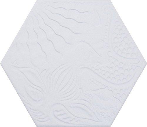 Diese Bodenfliesen Aphrodite weiß im Format 25x25cm aus Feinsteinzeug eignen sich auch als Wandfliesen und zaubern in jeden Raum ein modernes Ambiente zum Wohlfühlen (1 Muster)