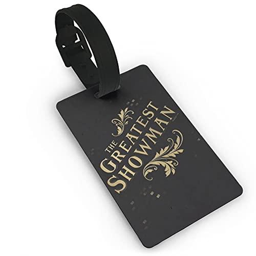 Las etiquetas de equipaje más grandes de Showman para equipaje de viaje, etiquetas de maleta, etiquetas para tarjetas de visita para viaje de negocios, etiqueta de equipaje de PVC 5,6 x 9,4 cm