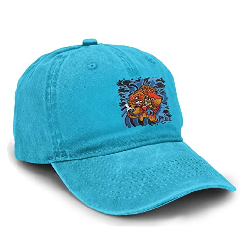 Nanasang Sublime Badfish Adjustable Unisex Womens Mens Denim Cap Baseball Caps Casual Travel Blue