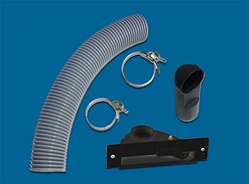 AERTECNICA serie Vac Pan PA405 stopcontact voor meubels / plinten zwart met montageset