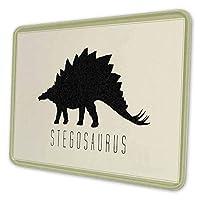 マウスパッド ゲーミングマウスパッド-恐竜ステゴサウルスシルエット日焼け 滑り止め デスクマット 水洗い 25x30cm