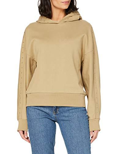 Scotch & Soda Maison Womens Oversize Hoodie mit Nieten Sweatshirt, 0137 Sand, S