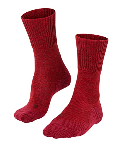 Falke TK1 - Calcetines de lana para senderismo (mezcla de lana merino, color rojo (escarlata 8280), Reino Unido 9.5-10.5 (EU 44-45 IEE US 10.5-11.5), 1 par