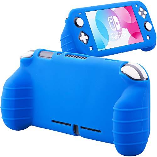 YoRHa Impugnatura Custodia Maschere Protezioni in Gomma Siliconica Morbida Cover Skin (Blu) x 1 per Nintendo Switch Lite [9.2019 Modello Slim]