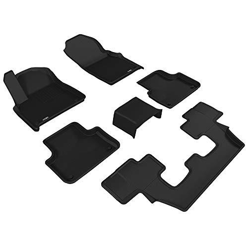 3D MAXpider Allwetter Fussmatten für Audi Q7 7-Sitzer 4M 2015-2020 Passgenaue Fußmatten Auto Gummi Matten Gummimatten