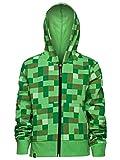 JINX Minecraft Big Boys' Creeper Zip-Up Costume Hoodie, no Mask, Green, Small