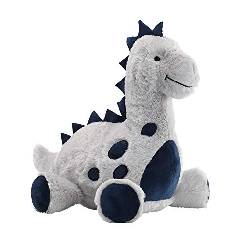 Lambs & Ivy Baby Dino Blue/Gray Plush Dinosaur Stuffed Animal Toy - Spike