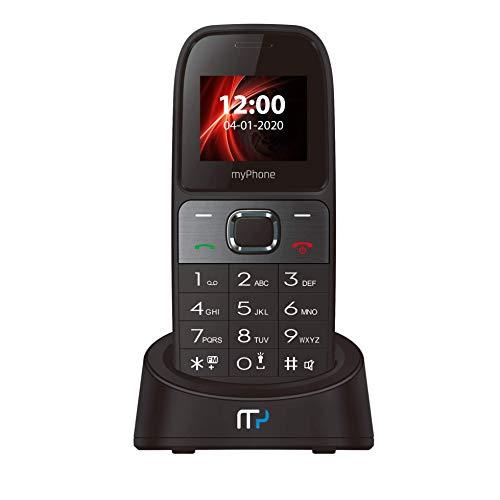 myPhone SOHO Line H31 GSM 3G Tischtelefon für Büro und zu Hause, mit Farbdisplay, Freisprechen, Dual SIM, großem Display, Schnurloses Telefon ohne Anrufbeantworter, Großtastentelefon mit Ladestation