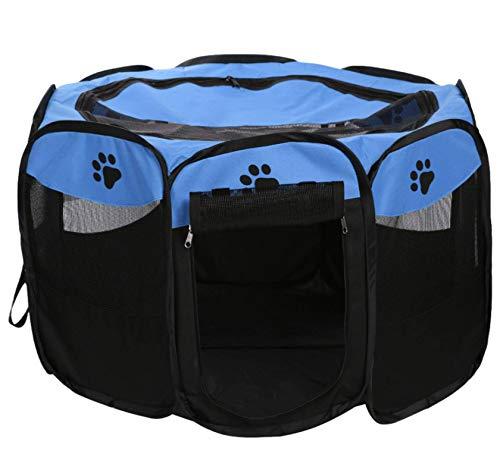 N-B Tienda para mascotas Oxford tela octogonal valla para gatos y perros Tienda de campaña para mascotas jaula para perros