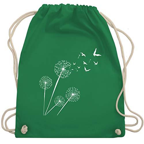 Shirtracer Statement - Pusteblume Vögel - Unisize - Grün - turnbeutel bunt - WM110 - Turnbeutel und Stoffbeutel aus Baumwolle