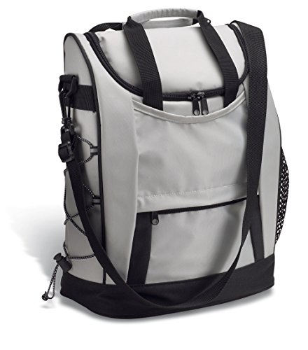 REFLECTS Kühltasche Picknicktasche grau-schwarz mit Tragegriff, Schultergurt und Außentasche; Isoliertasche